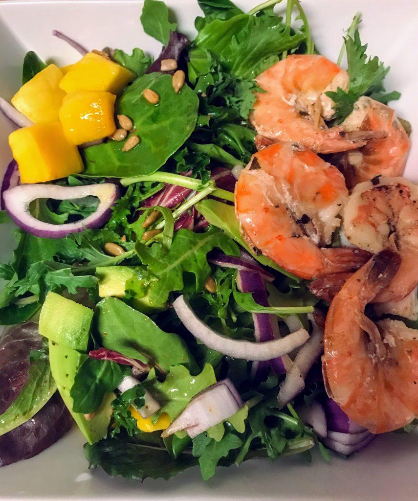 Shrimp and mango salad