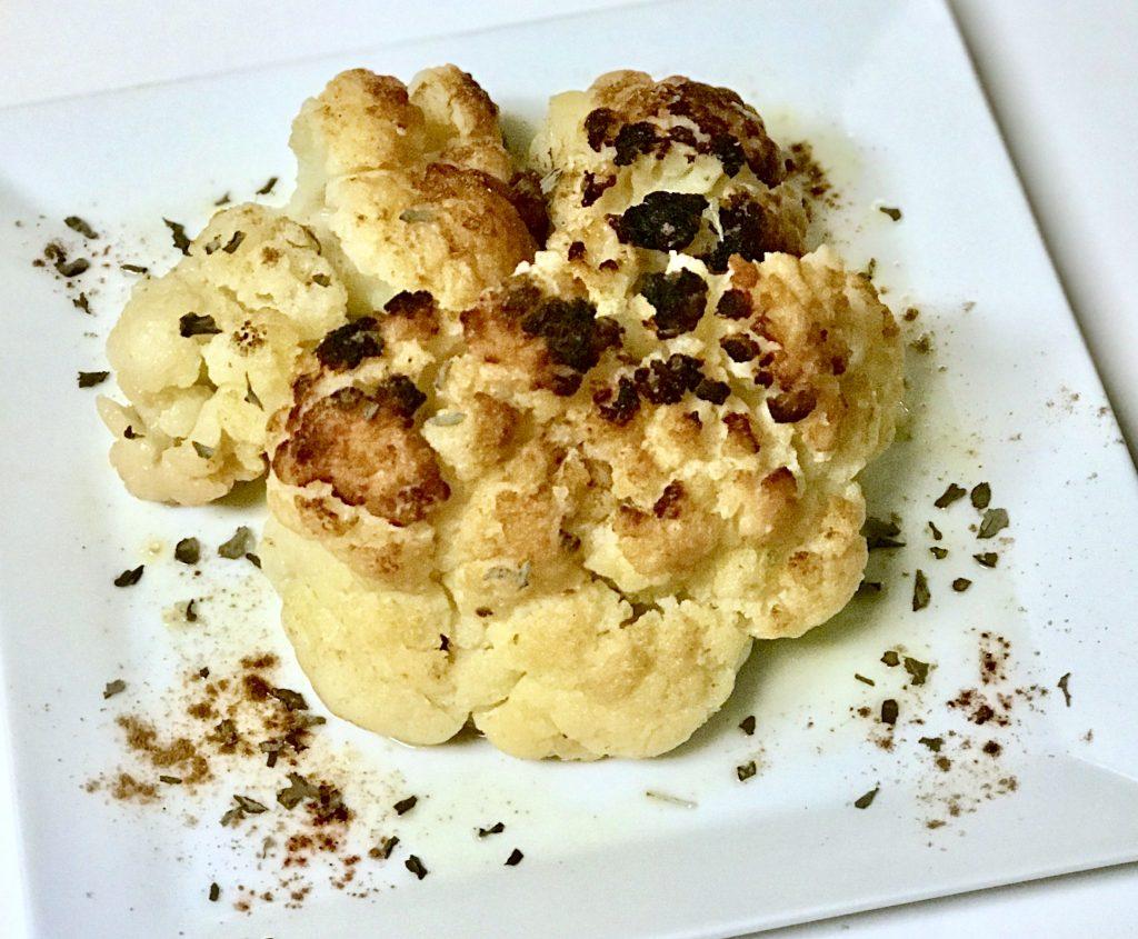 Israeli inspired Whole Cauliflower